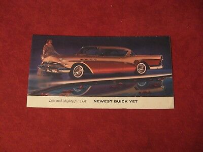 1957 Buick Dealer Salesman Dealership Brochure Original Booklet Old Catalog  GM