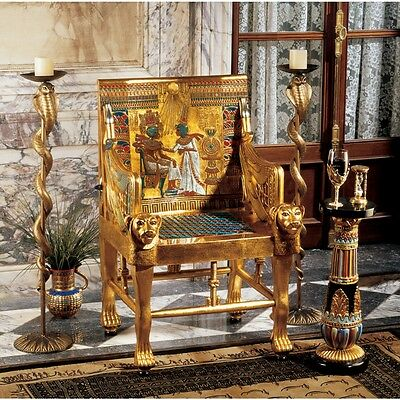 Throne Chair of ancient Egyptian Pharaoh Tutankhamun Replica Reproduction