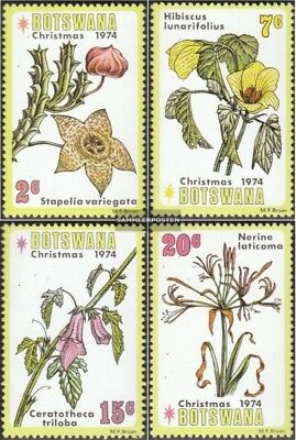 Botswana 258-261 Mint Never Hinged Mnh 1980 Christmas Africa Flora Stamps