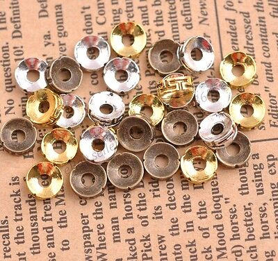 FREE SHIP 50Pcs Tibetan Silver Charms Spacer Beads Jewelry Finding 7MM B3116