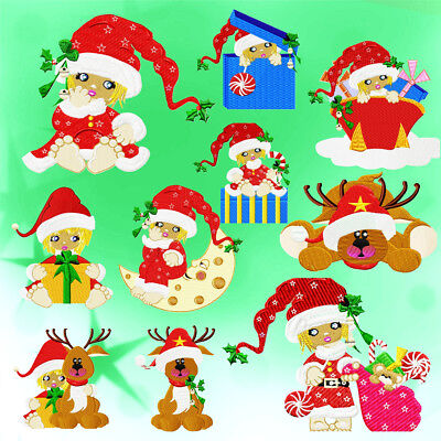 Adorable Cloe At Christmas  10 Machine Embroidery Designs 3 Sizes