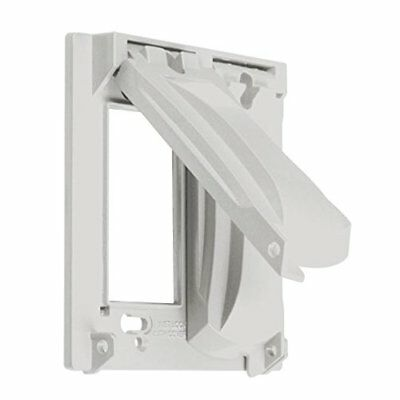 Hubbell Taymac - MX2050WH 2 Gang Vertical Horizontal 25 In 1 Flip Cover White