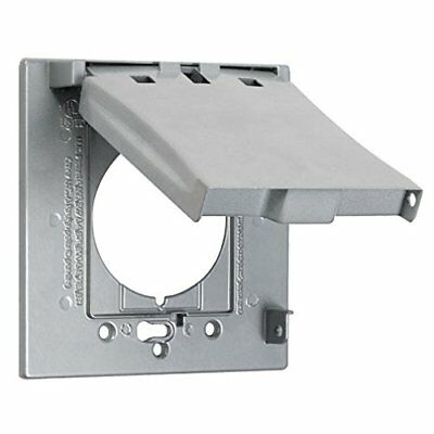 Hubbell Taymac - MX2150S 2 Gang Vertical 3 In 1 Flip Cover Grey