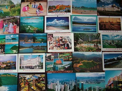 95 Larger/Oversize Postcards of ASIA. Various Countries.  Used & Unused.