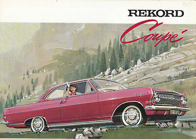 Opel Rekord Coupe Brochhure, General Motors (France), Ref.sodico S. A.
