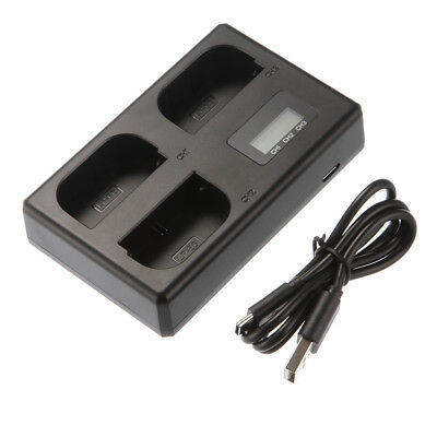 LCD Triple 3 Battery Charger USB For Canon LP-E6(N) 6D 5D Mark II III IV 80D 70D