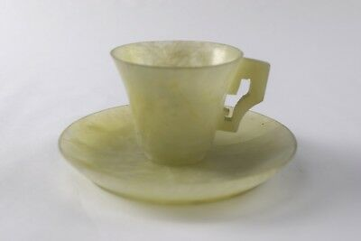 Antique Unmarked Soapstone Demitasse Cup & Saucer #76 - NO RESERVE
