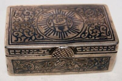 Rare antique NIELLO Ottoman Silver - snuffbox, est. 1750 - 1800