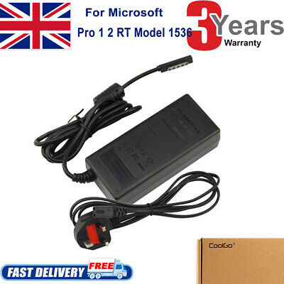 AC Charger For Microsoft Surface 1, Surface Pro 2 1536 + UK Mains Power Supply