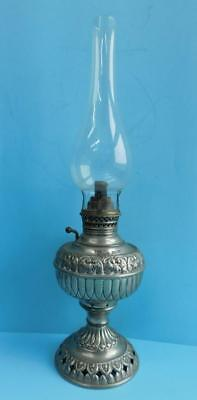 The Tiny Juno Zinc Plated Centre Draught Lamp Miller & Co 1890s