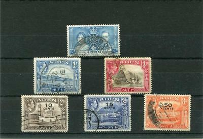 Aden. 6 -- G6 Used Stamps On Stockcard