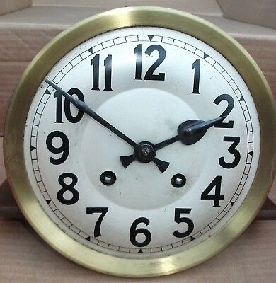 Vintage G B - Wall Clock Movement - Key - Face & Hands