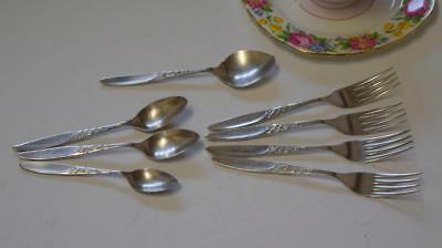 "8 Grosvenor ""Christine"" SILVER PLATED Jam Spoon/Dessert Forks/Teaspoons High Tea"