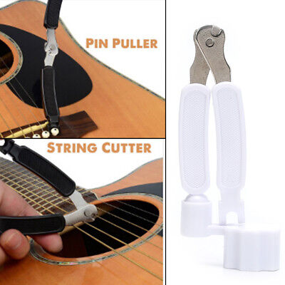 Integrated Bridge Pin Puller Winder String Winder&Cutter Acoustic Guitar Tool HF