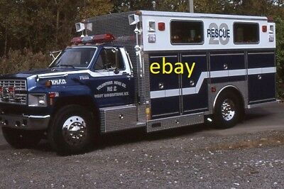 West Haverstraw NY 1992 Ford Saulsbury Rescue - Fire Apparatus Slide