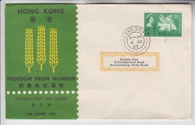 Hong Kong, Freedom from Hunger First Day Cover