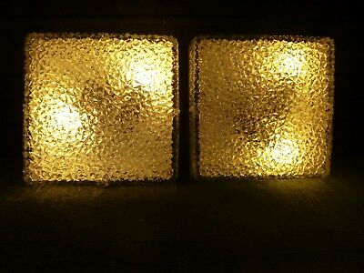 2 X Vintage Holophane France Plaffonier Lights