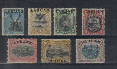 Labuan 1894-96 Seven values to 24c mounted mint