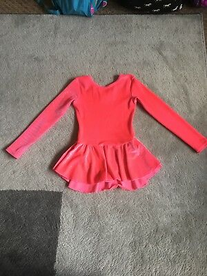 Age 4-6 Pink Sparkly Ice Skating Dress