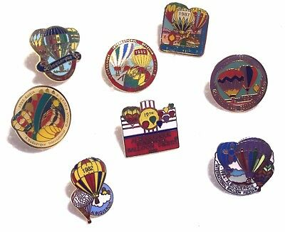 8 Albuquerque International Balloon Fiesta Event Pins 1982,84,86,87,89,90,92,93