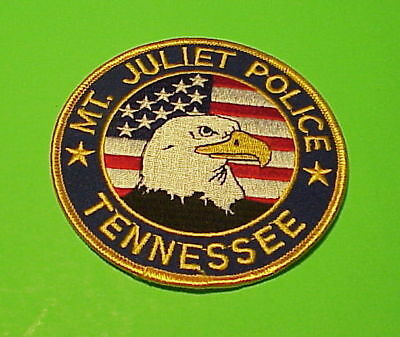 Mt. Juliet  Tennessee  Tn   ( Eagle / Flag )  Police Patch   Free Shipping!!!