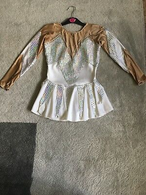 White Sparkly Ice Skating Dress Age 9