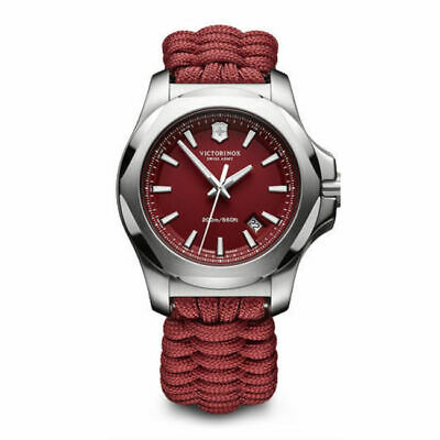 New Victorinox Swiss Army I.N.O.X. Paracord Red Dial Men's Watch 241744