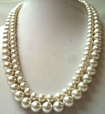 """Stunning Vintage Estate Signed Japan Faux Pearl Beaded 24"""" Necklace!!! 9941B"""