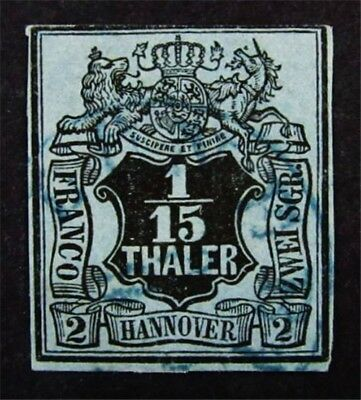 nystamps German States Hanover Stamp # 5 Used $80