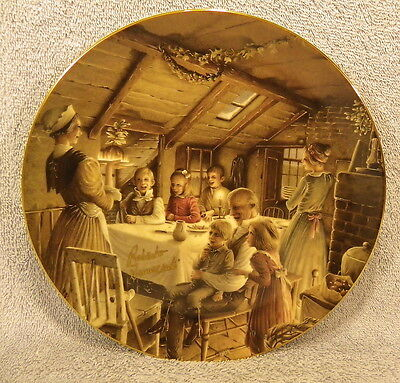 Dept 56 Christmas Carol Cratchit's Pudding-SIGNED Plate