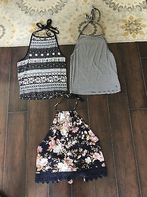 Lot Of 3 Women's Halter Tops By American Eagle Outfitters -size Small - EUC