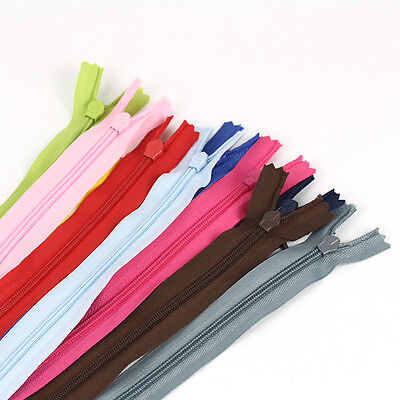 WHOLESALE 10pcs Mix Colors Assortment YKK 11inch Skirt & Dress Nylon Coil ZIPPER