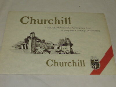 Vintage Souvenir Churchill Schaumburg Il. Home Brochure