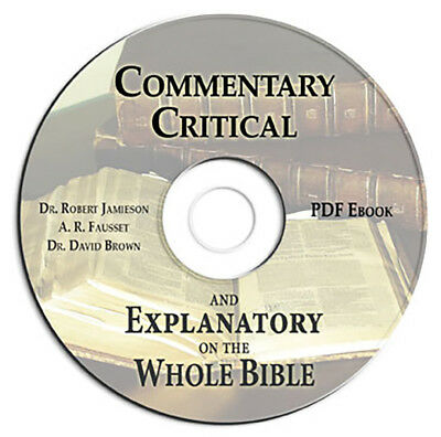 Commentary Critical & Explanatory-Whole Bible-Old & New Testaments-CD Ebook PDF