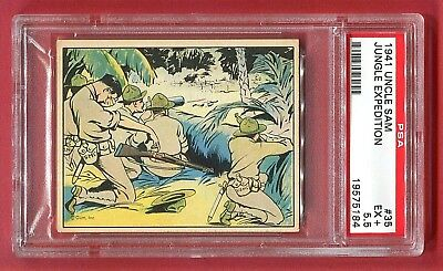 1941 Gum, Inc. Uncle Sam Card #35 Jungle Expedition PSA 5.5 EX+ Pop 2