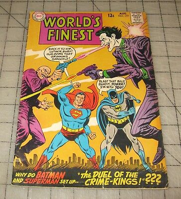 WORLD'S FINEST #177 (Aug 1968) Mid-Grade Condition Comic, Superman/Batman JOKER