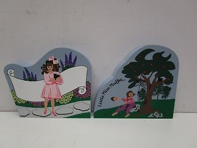 The Cat's Meow Village  Little miss Muffet & Greeting From Girl