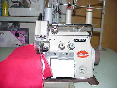 SERVICED BROTHER 3 THREAD OVERLOCKER INDUSTRIAL SEWING MACHINE One PrivateOwner