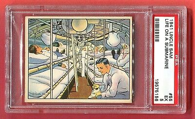 1941 Gum, Inc. Uncle Sam Card #55 Life on a Submarine PSA 5 EX