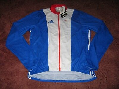 """Team GB Great Britain Athens Olympics 2004 Adidas L/S cycling jersey 44/46"""" BNWT"""