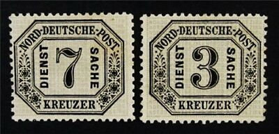 nystamps German States North German Confederation Stamp # O8 O9 MOGH $70 Signed