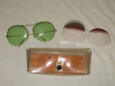Vintage French Tinted Sunglasses W/ Extra Tints