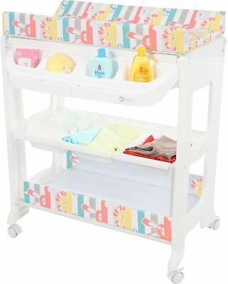 MyChild PEACHY CHANGING UNIT MULTI ZOO Baby Changing Table With Bath BN
