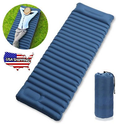 Self Inflating Mat Outdoor Tent Sleeping Pad Hiking Pillow Air Mattress Camping