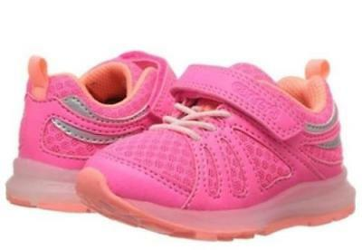 Girls Toddler CARTER'S SHELBY3G Pink Light Up Adjustable Athletic Shoes NEW