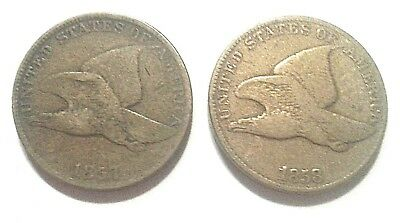 1857,1958 Flying Eagle Cents Lot of 2  No Reserve