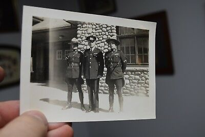 antique RCMP  & CANADIAN NATIONAL  RAILWAY POLICE photograph CNR