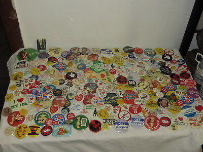 Vintage Huge Lot Of Comical Humor Pinback Buttons