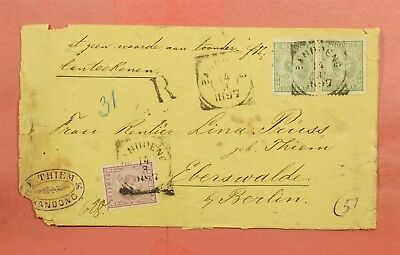 1897 Netherlands Indies Bandung Registered To Germany