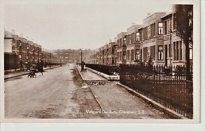 RP Early GLASGOW Vennard Gardens - terraced houses, people, local publisher